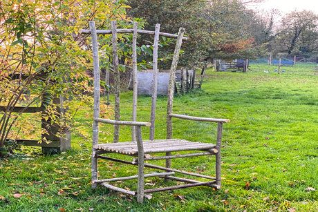 Green Wood Rustic Stick Chair